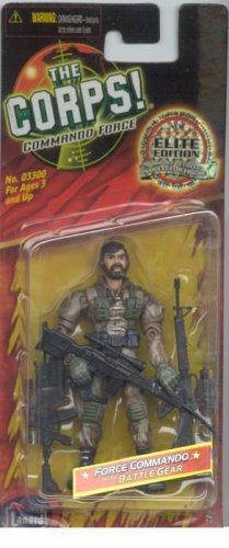 Buy Low Price Lanard The Corps Commando Force Elite Edition Highly Detailed 4 Inch Military Figure HAWK Lanard Toys (B000E7T7YY)