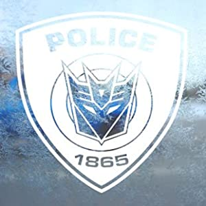 TRANSFORMERS White Decal DECEPTICOP DECEPTICONS Car White Sticker