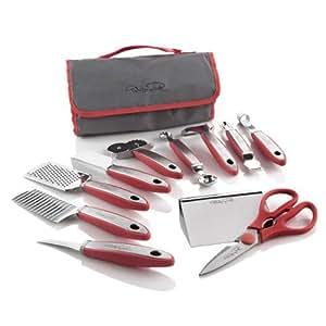 Wolfgang Puck 12 pc Elite Prep & Garnish Set with Storage Case (Red)