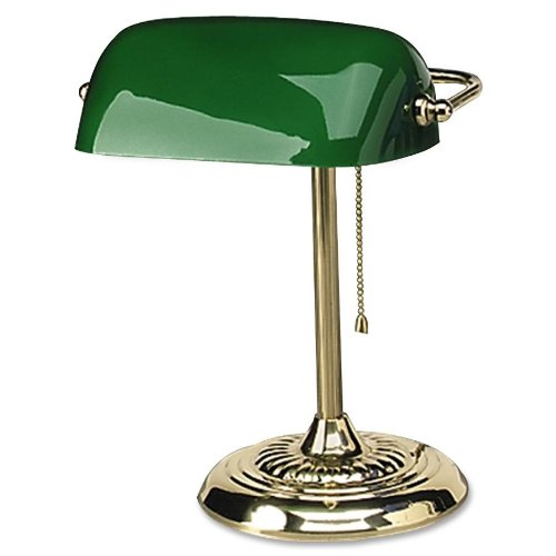 "Sale alerts for Advantus Corp Ledu - Bankers Lamp, 14""H, Uses 60W Inct. Bulb, 14""H,Green Shade, Sold as 1 Each, LEDL557BR - Covvet"