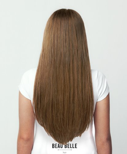 Beau Belle Hair Extensions - 100% Indian Remy Human Hair Extensions - Clip In Hair Extensions - 18inch Straight Full Clip In Human Hair Extensions - Can Be Straightened, Curled, Permed Repeatedly - Black Hair Extensions - Dark Brown Hair Extensions - Brown Hair Extensions - Light Brown - Blonde Hair Extensions - Bleach Blonde Hair Extensions