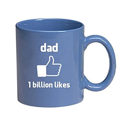 dad-1 Billion Likes-Facebook style Thumbs Up-11 Ounce Ceramic Coffee Mug EXCLUSIVELY from THE GAG for Fathers Day