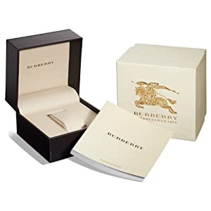 Burberry Authentic Watch Box with User's Manual and Warranty Information
