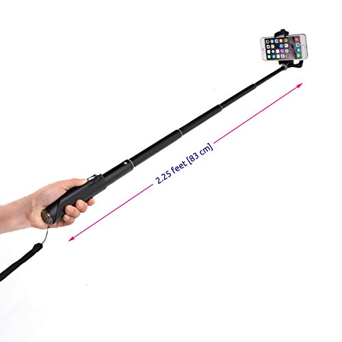 minisuit compact foldable selfie stick with built in remote for apple android travel size. Black Bedroom Furniture Sets. Home Design Ideas