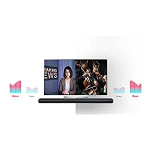 LG 300W RMS 2.1 Channel Bluetooth Sound Bar with Wireless Subwoofer , Adaptive Sound Control and Remote Control . - NEW RANGE in BLACK Colour .