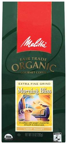 Melitta Fair Trade Organic Coffee, Morning Bliss Ground, Light Roast, 10 Ounce