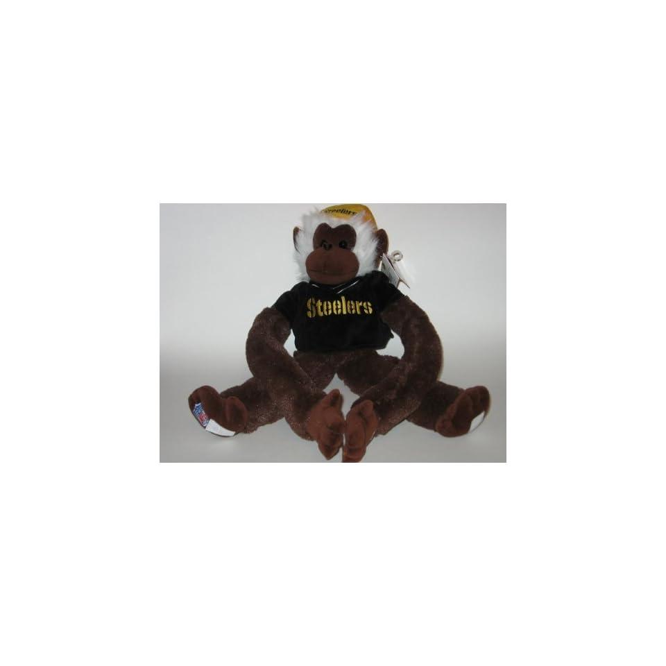 PITTSBURGH STEELERS Team Logo 18 Plush Good Luck RALLY MONKEY