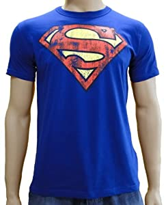 Superman Logo Logoshirt T-Shirt Royal, XL