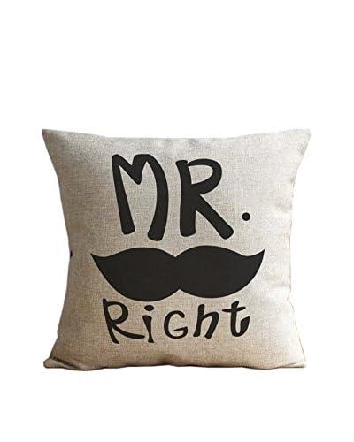 LO + DEMODA Funda De Cojín Mr Right Moustache