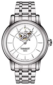 Tissot Lady Heart Automatic White Dial Stainless Steel Ladies Watch T0502071101104