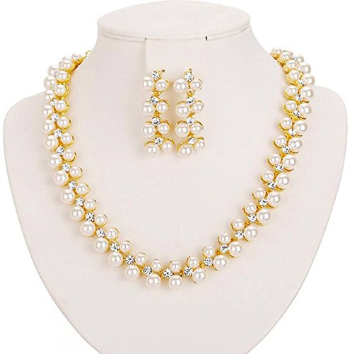 Shining-Diva-18k-Gold-Plated-Pearl-Necklace-Set-Jewellery-Set-with-Earrings-for-Girls-Women