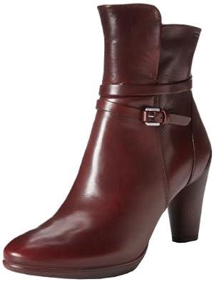 爱步ECCO Sculptured 75 Ankle女士新款雕塑75 真皮休闲短靴棕$139.97