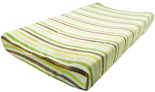 KidsLine Unisex Plush Baby Boy Changing Pad Cover Green - 1