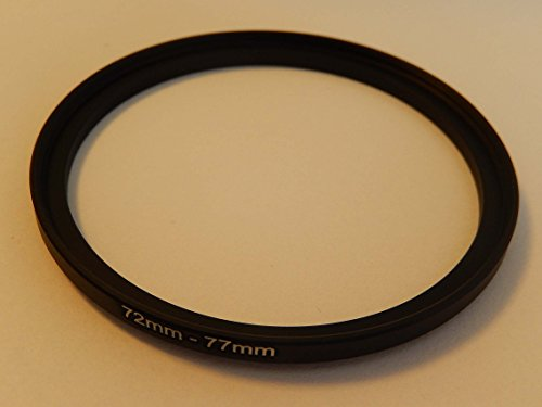 vhbw Step UP Filter-Adapter 72mm-77mm schwarz für Kamera Panasonic, Pentax, Ricoh, Samsung, Sigma, Sony, Tamron