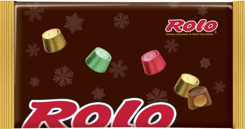 Rolo Holiday Chewy Caramels in Milk Chocolate, 11-Ounce Bags  (Pack of 4)
