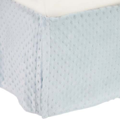 American Baby Company 170SS-BL Heavenly Soft Crib Bed Skirt (Blue)