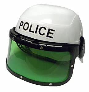 Amazon.com: New Child Costume Police Motorcycle Cop Helmet & Visor: Toys & Games