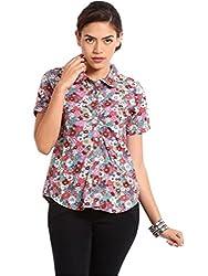 Miraaya Women's Shirt (M2323B_5462_Grey_X-Small)