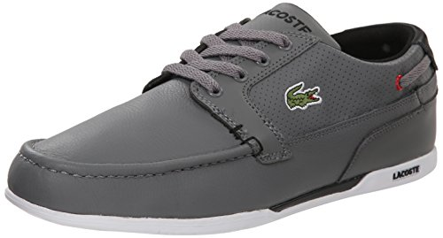 Lacoste Men S Dreyfus Boat Shoe Dark Brown