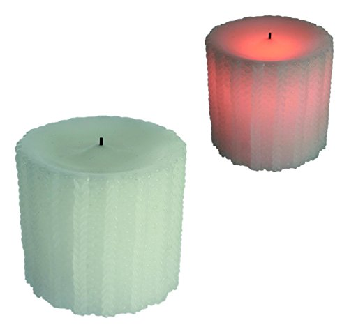 Candle With Warm Yellow LED Flickering Light -Ideal Gift/ Present For Any Home or Office