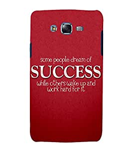 printtech Cool Quotes Success Back Case Cover for Samsung Galaxy J7 (2016 )