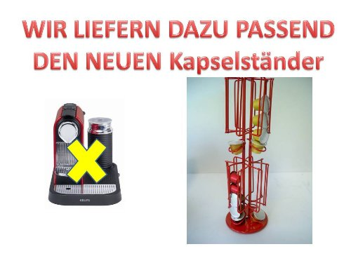 Krups XN 7106 NESPRESSO&#174; CitiZ und Milk fire-engine red passend f&#252;r die Maschine der neue Drehst&#228;nder in Farbe rot