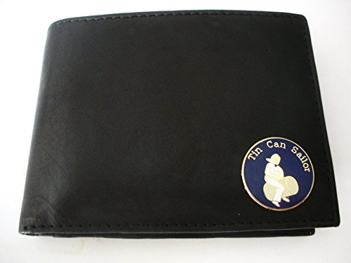 United States Navy Destroyer Tin Can Sailor Bi-Fold Italian Leather Wallet