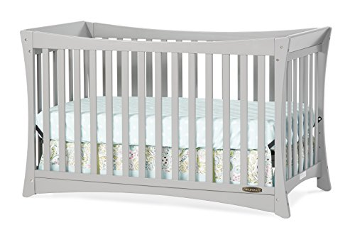 Child Craft Parisian 3 in 1 Stationary Crib, Cool Grey