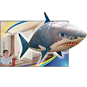 buy Remote Control Inflatable Floating Shark gag gift