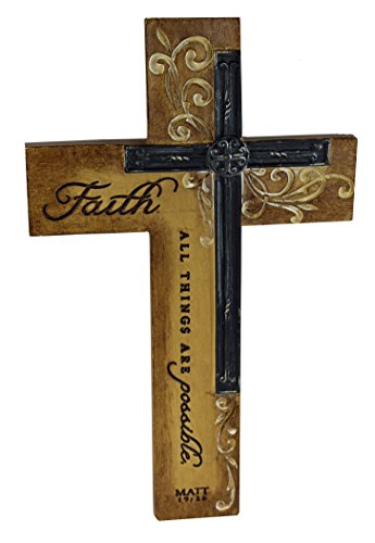 Intaglio Resin Wall Cross - Faith - All Things