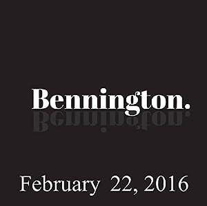 Bennington, February 22, 2016 Radio/TV Program