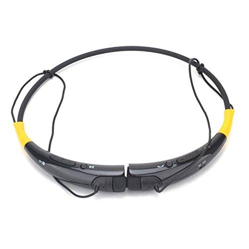 Ceotek Universal Hbs-740 Wireless Bluetooth Handsfree Sport Headset Neckband Earphone For Iphone Lg Samsung Ipad Ipod Galaxy Usa Seller (Black Yellow)