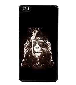 printtech Cool Monkey Glasses Smoke Back Case Cover for Xiaomi Redmi Mi5::Xiaomi Mi 5