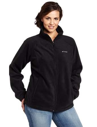 Columbia Women's Plus-Size Benton Springs Full Zip Plus, Black, 2X