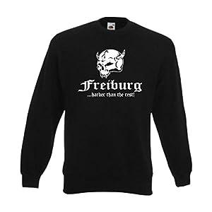 Sweatshirt Freiburg .. harder than the rest, Funshirt S-6XL (SFU14-30c)
