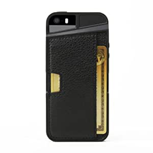 iPhone 5s Wallet Case - Q Card Case for iPhone 5/5s by CM4 - Black Onyx - [Ultra Slim Protective iPhone Wallet]