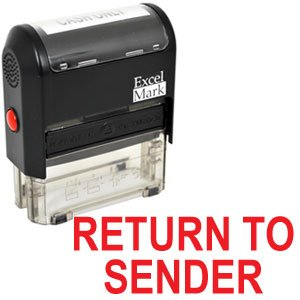 RETURN TO SENDER Self Inking Rubber Stamp - Red Ink (42A1539WEB-R)
