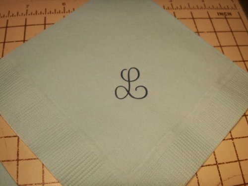 50 Personalized Or Monogrammed Beverage Coctail Size Wedding Napkins front-721142