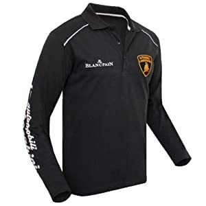Lamborghini long sleeved polo black