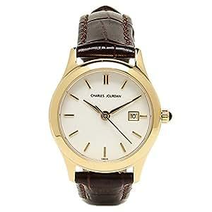 シャルルジョルダン 時計 レディース Charles Jourdan 134.21.6 サークル 腕時計 ウォッチ ブラウン/ゴールド[並行輸入品]