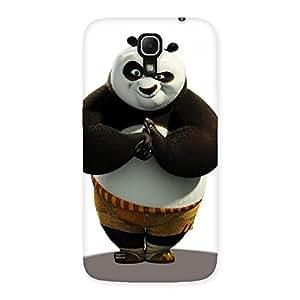 Impressive Punching Panda White Black Back Case Cover for Galaxy Mega 6.3
