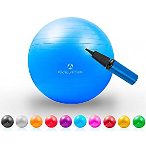 Gymnastik-Ball »Pluto« / Robuster Sitzball und Fitnessball / 65 cm / blau