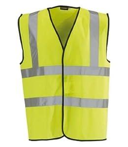 Yellow High-Visibility Warning Vest Jacket - XL Size Hi Viz