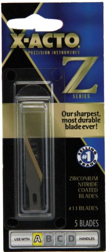 X-Acto Z-Series No.11 Classic Fine Point Blade, 5-Pack (XZ211T)