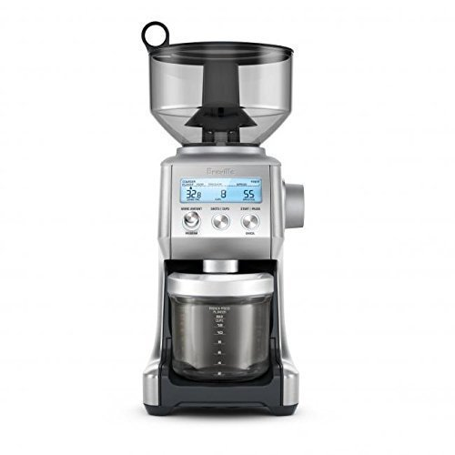 16 OZ, Coffee Bean Capacity with Locking System Coffee Bean Grinder in Brushed Stainless Steel