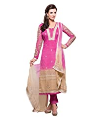 Nirali Womens Cotton Salwar Kameez Semi Stitched - Free Size - B00Y4RAPKA
