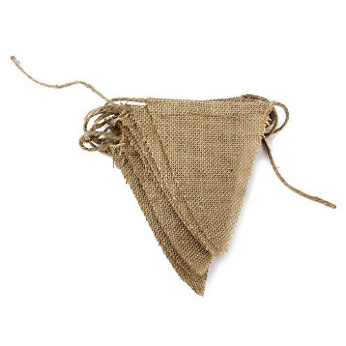 Guirlande Bannière Banderole en Jute Vintage Décoration pour Cérémonie Mariage