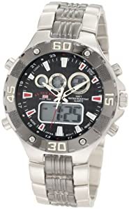 U.S. Polo Assn. Sport Men's US8208EXL Analog-Digital Dial Extra Long Silver-Tone and Gun Metal Watch