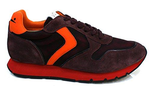 Voile Blanche LIAM Sneakers Bassa Uomo Prugna Arancio 41