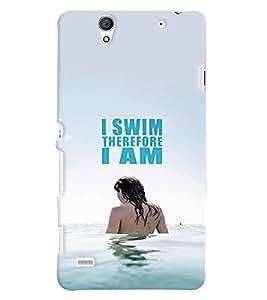 PRINTVISA Quotes Swim Case Cover for Sony Xperia C4